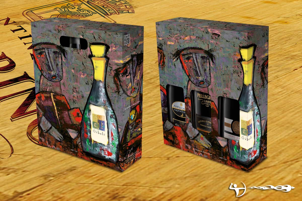 Cantine Pellegrino: Packaging, soggetto Chagall